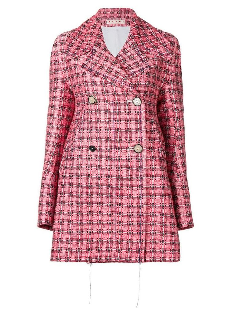 Marni double breasted coat - Red