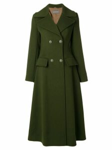 Alberta Ferretti double breasted long coat - Green