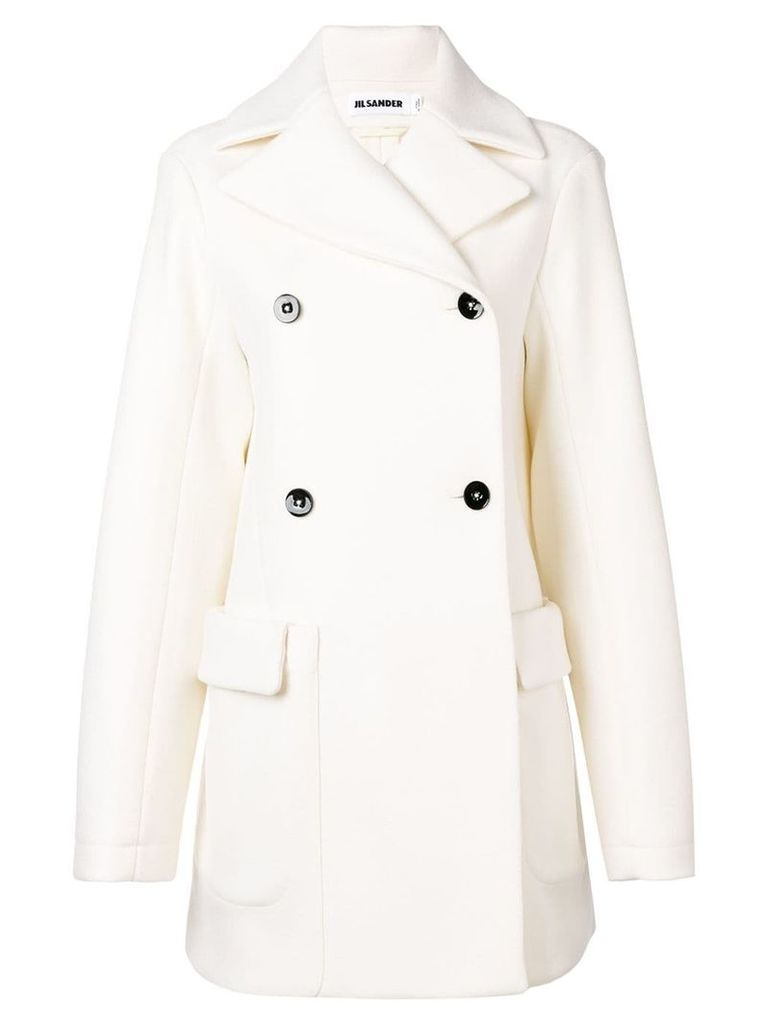 Jil Sander classic double-breasted coat - White