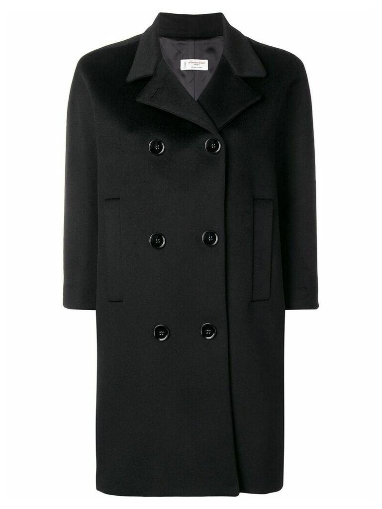 Alberto Biani double breasted coat - Black