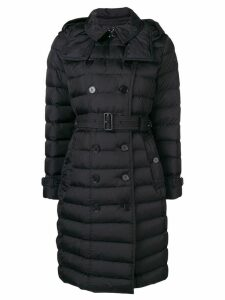 Burberry double-breasted belted puffer coat - Black