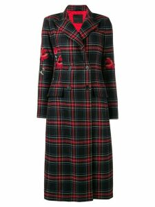 Ermanno Scervino plaid double breasted coat - Black