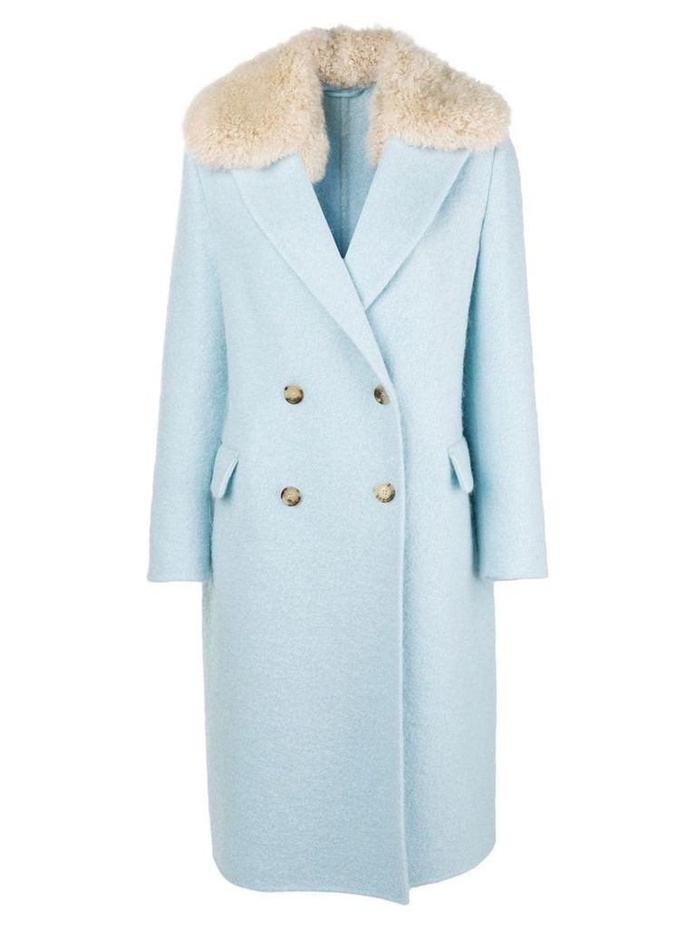 Ermanno Scervino double breasted coat - Blue
