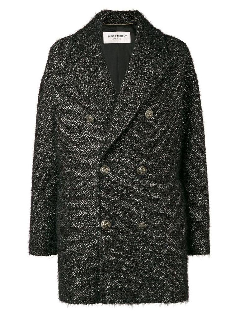 Saint Laurent short pea coat - Black