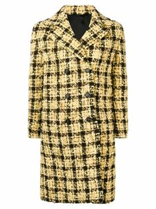Ermanno Scervino plaid double-breasted coat - Yellow