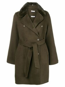 P.A.R.O.S.H. belted double breasted coat - Green