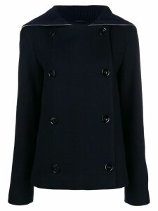 Jil Sander double-breasted fitted coat - Blue