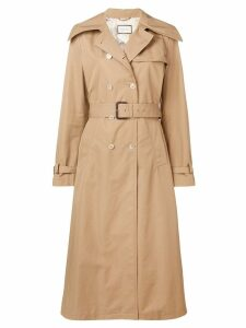 Gucci double-breasted belted coat - NEUTRALS