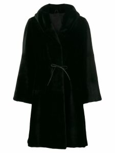 Liska Dawson hooded fur coat - Black