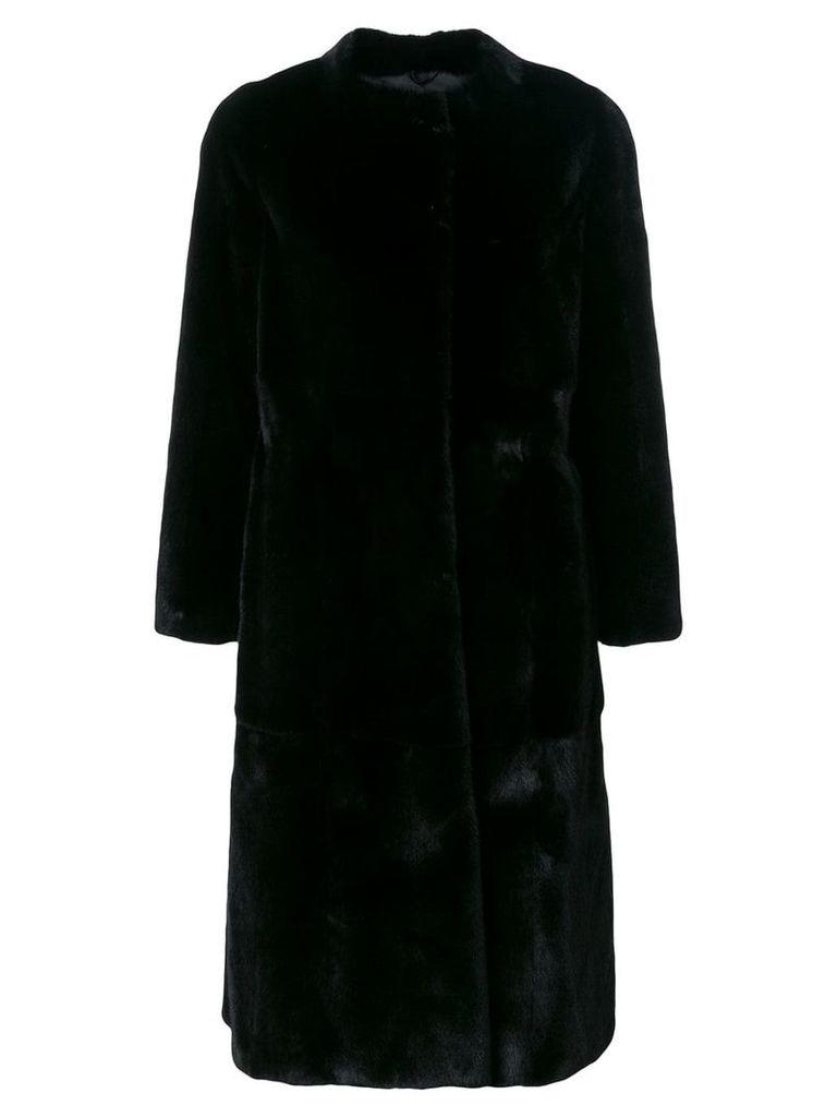 Liska Liska fur coat - Black