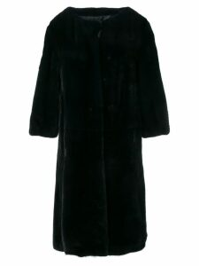 Liska buttoned fur coat - Black