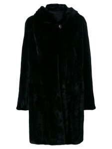 Liska hooded fur coat - Black