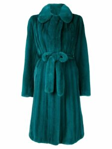 Liska mink fur coat - Green