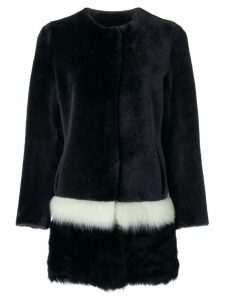 Cara Mila Tascani reversible fur coat - Black