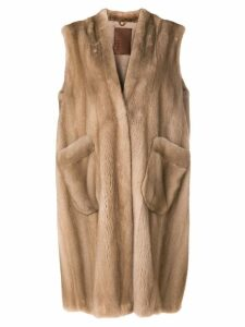 Liska long Vergine coat - Neutrals
