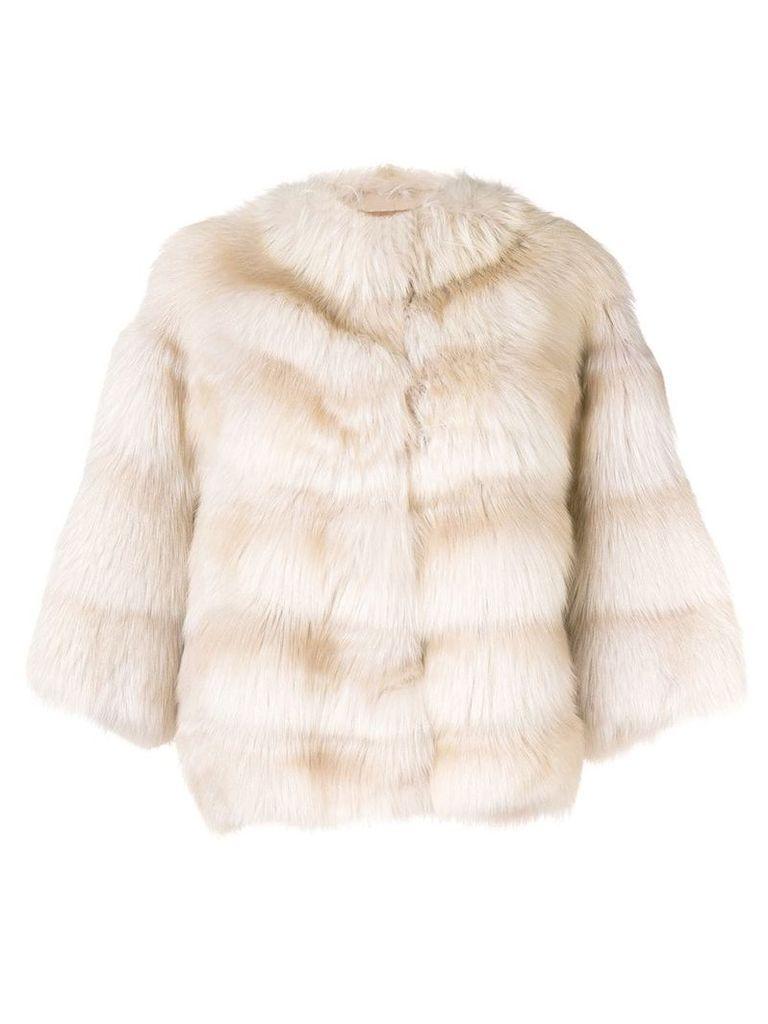 Liska short Tarantula coat - Neutrals