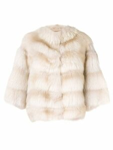 Liska short Tarantula coat - Neutrals