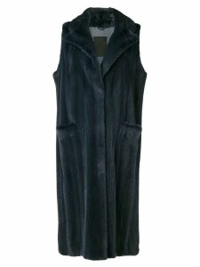 Liska sleeveless long coat - Blue