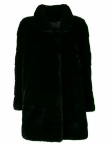 Liska longsleeved front fastened coat - Black