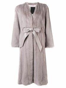 Liska longsleeved belted waist coat - Pink