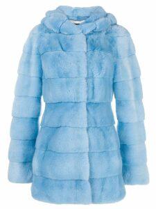 Liska Valencia hood coat - Blue