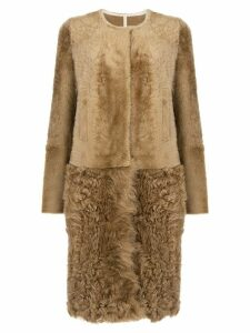 Yves Salomon shearling coat - Brown