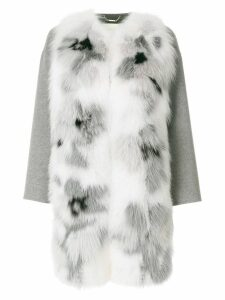 Fendi appliqué coat - Grey