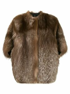 Liska shortsleeved fur coat - Brown