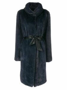 Liska belted waist coat - Blue
