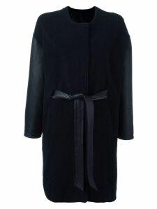 Liska belted coat - Blue