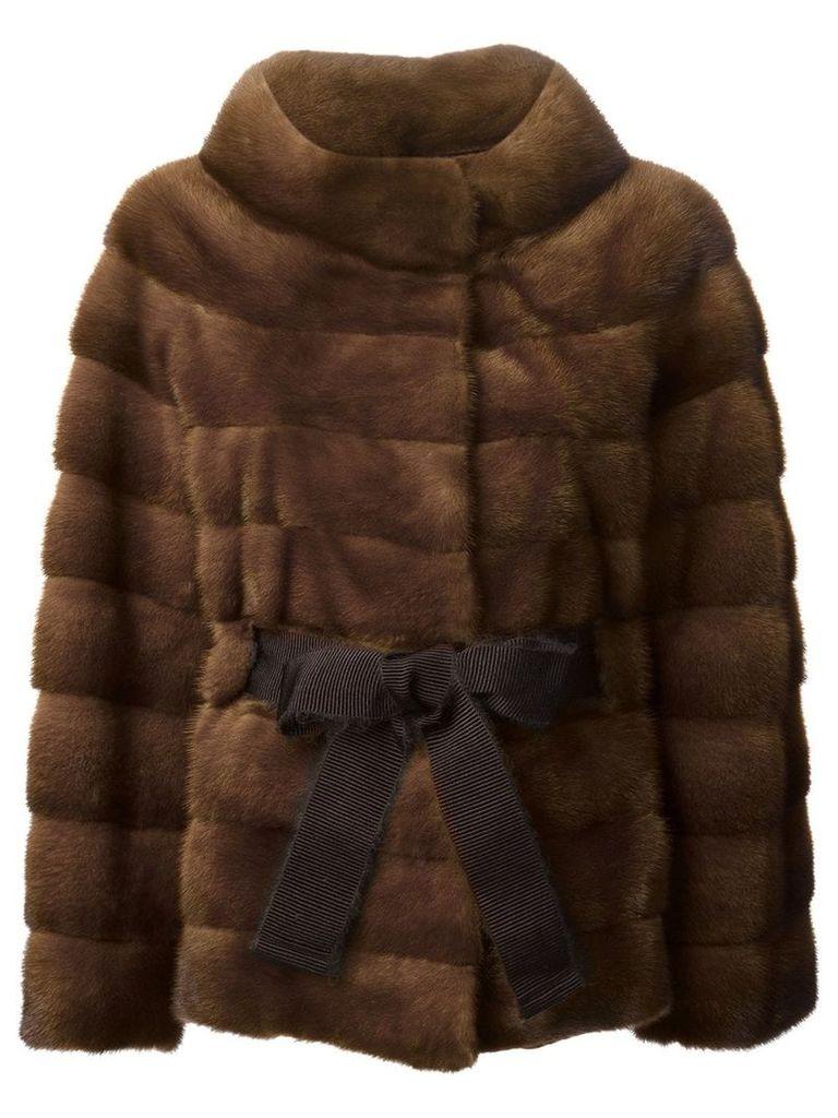 Liska belted coat - Brown