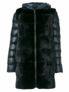 Cara Mila Lisa Down Mink Coat - Blue