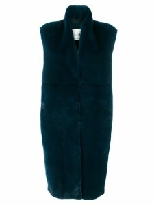 Manzoni 24 sleeveless panelled coat - Blue