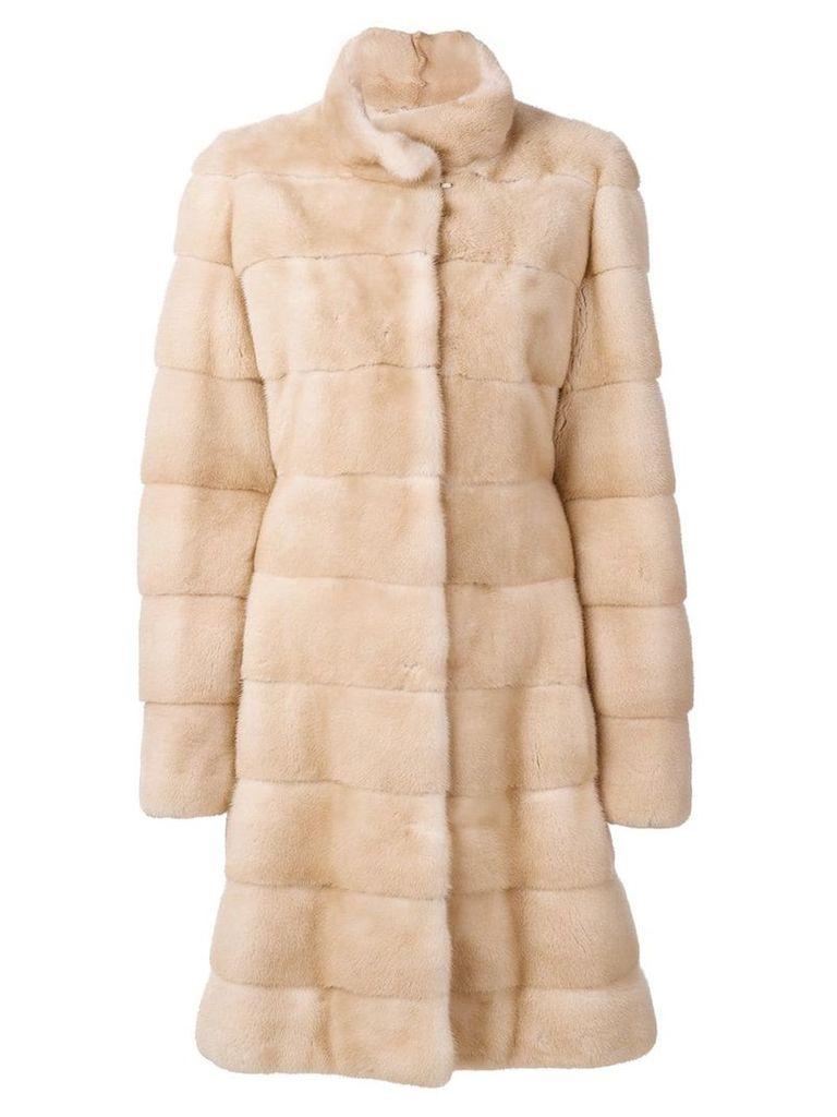 Liska panneled coat - Neutrals