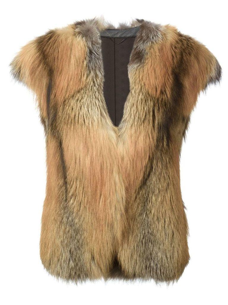Liska short sleeve coat - Neutrals