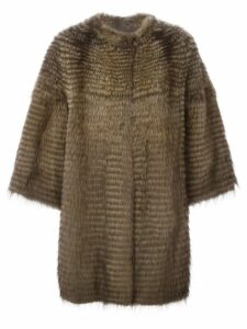 Liska cashmere loose fit coat - Brown