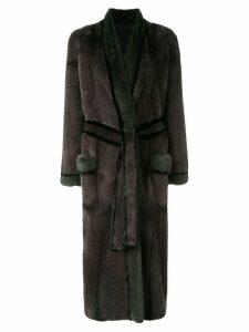 Liska belted coat - Grey