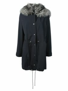 Liska fox fur hood parka - Blue