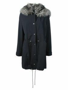 Liska fox fur hood parka - Blue