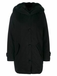 Ermanno Scervino fur-lined coat - Black