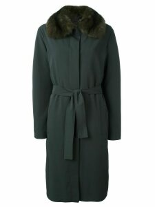 Liska sable fur collar coat - Grey