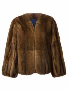 Liska wide sleeve coat - Brown