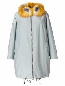 Gianfranco Ferré fur trim coat - Grey