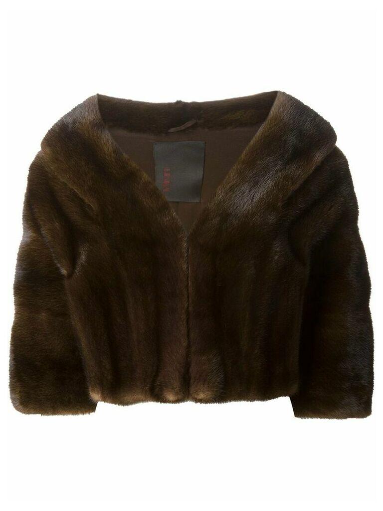 Liska cropped coat - Brown