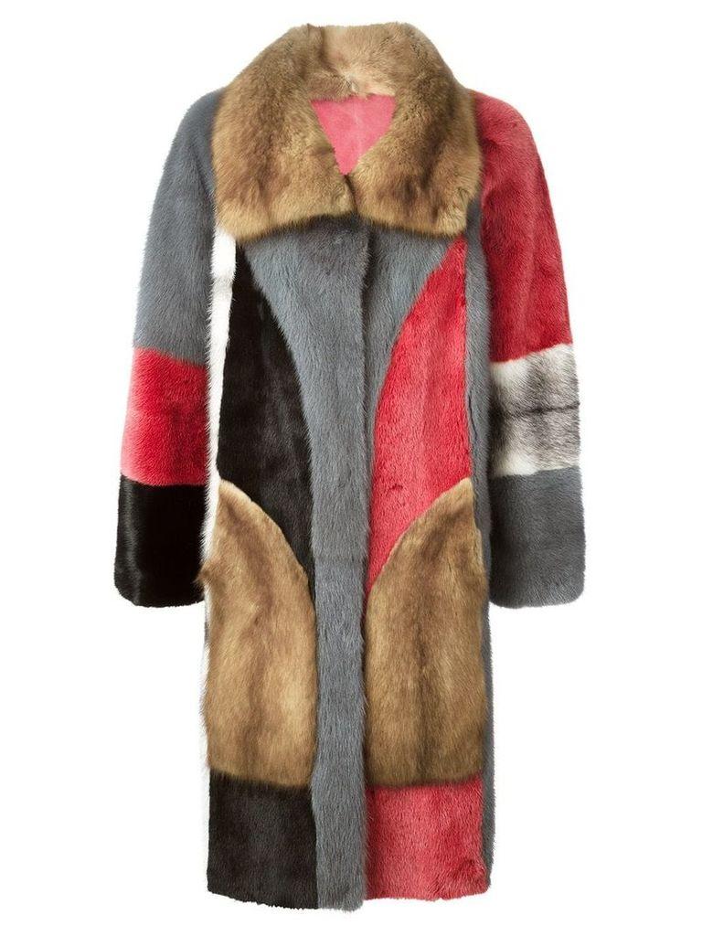 Liska reversible fur coat - Multicolour