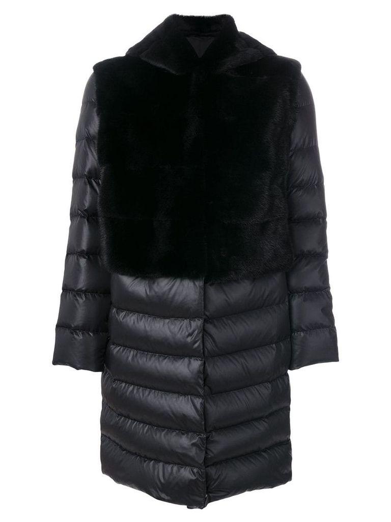 Liska padded hooded coat - Black