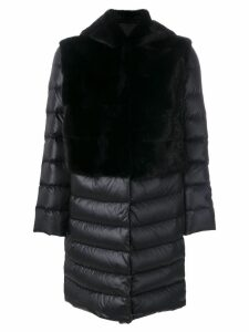 Liska padded hooded coat - Black