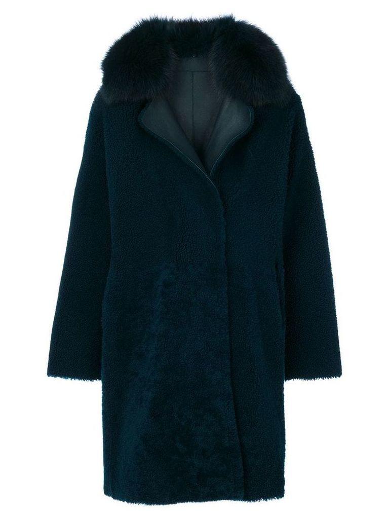 Guy Laroche collared coat - Blue