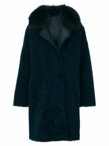 Guy Laroche collared coat - Blue