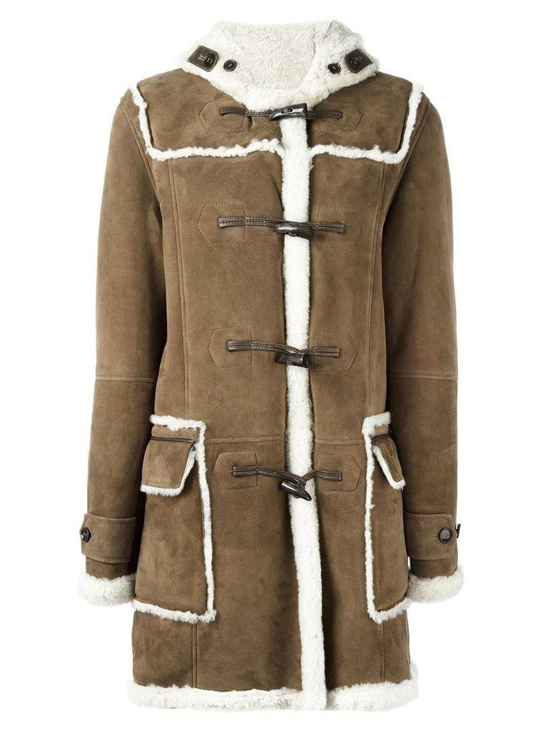Liska shearling duffle coat - Brown